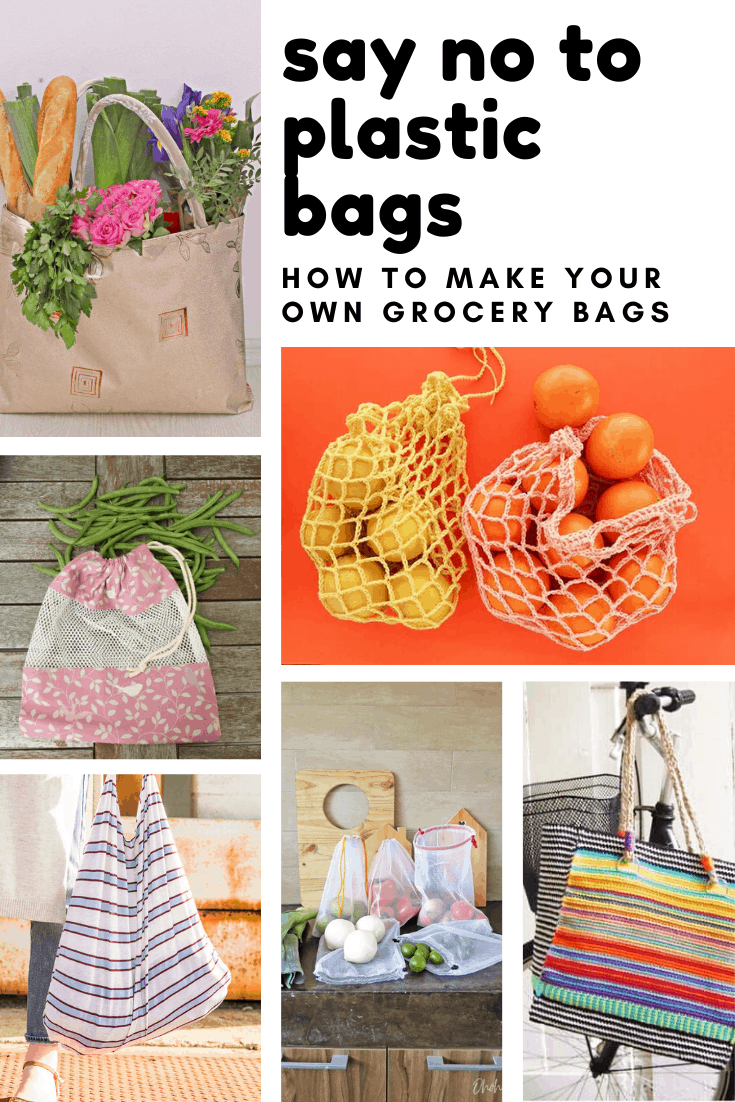 Check out how to make your own grocery bags this weekend so you can say no to plastic ones and be kind to the planet