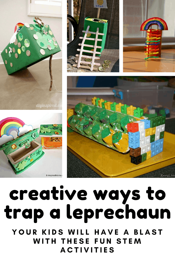 If you're looking for creative ways to trap a leprechaun we've got 10 fun ideas that are perfect for kids of all ages #leprechaun #stem #kidcrafts