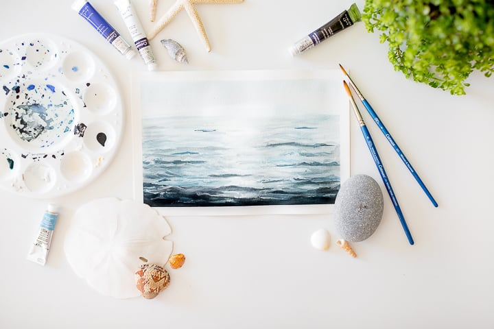 How to Paint an Ocean with Watercolor Paints