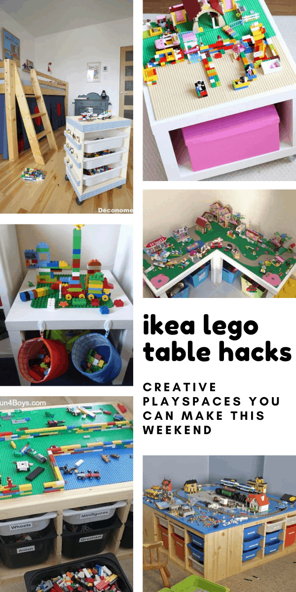 Loving these GENIUS ikea lego table hacks! Now the kids can play without us worrying about standing on the lego bricks!