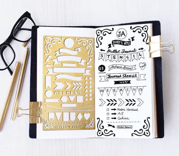 Bullet Journal Banners Stencil