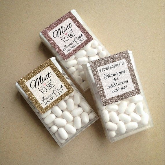 Mint to Be Wraparound Tic Tac Wedding Favor Labels