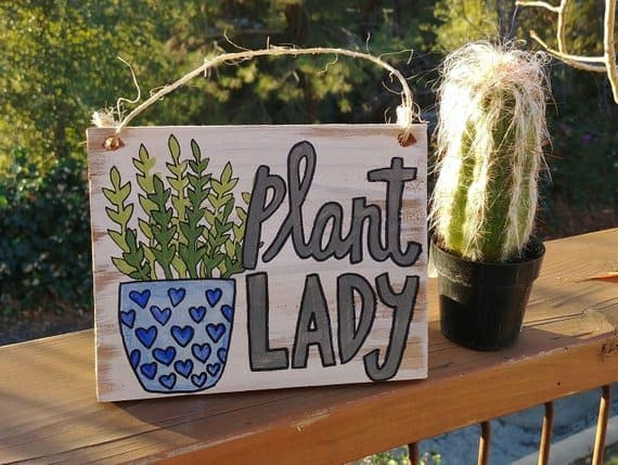 Plant Lady Pallet Sign