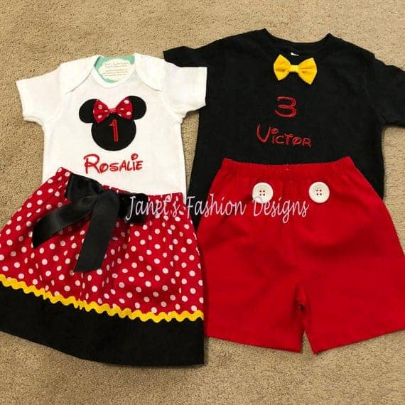 Brother & Sister Mickey and Minnie Mouse Set