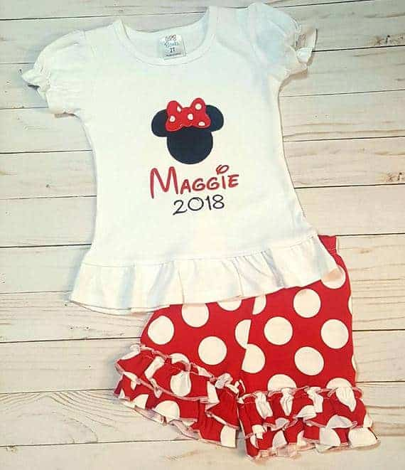 Minnie Mouse Ruffle Shirt and Polka Dot Shorts