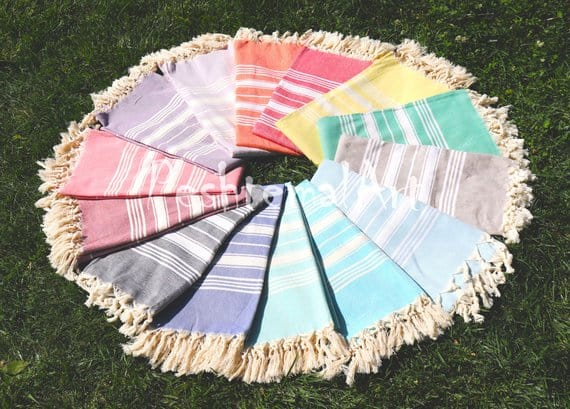 Brightly Colored Turkish Towel