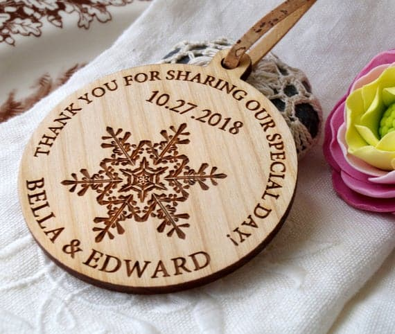 Winter Wedding Personalized Ornaments