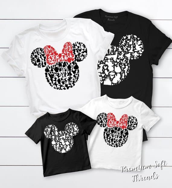 Mickey and Minnie Head Shirts