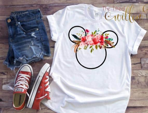 Disney Floral Minnie Shirt