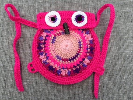 Crochet Pattern for Toddler's Owl Backpack