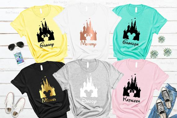 Disney Castle Family Shirts
