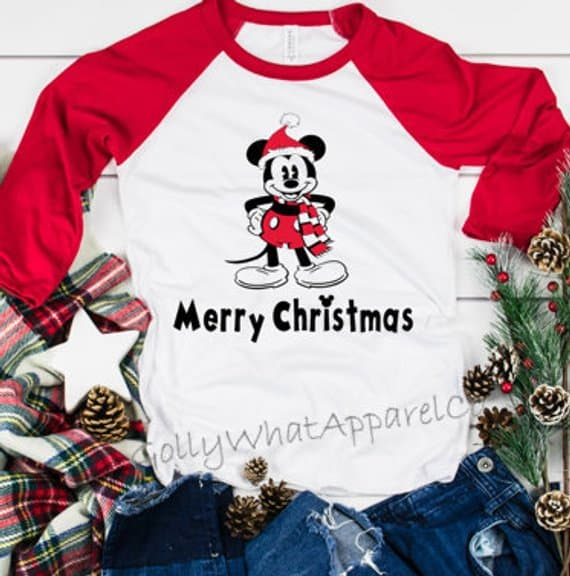 Mickey Merry Christmas Raglan Shirt