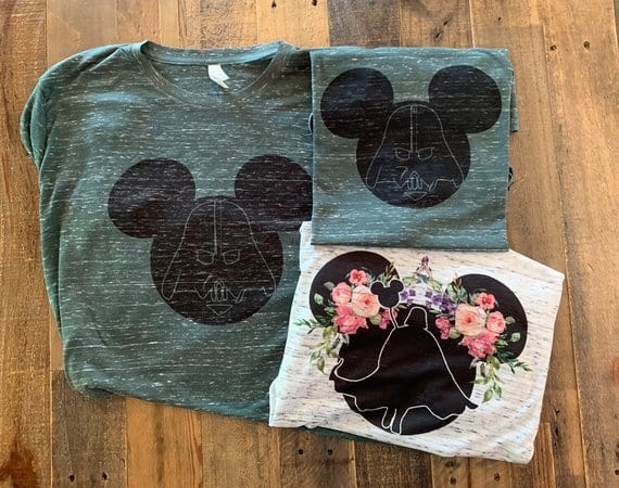 Mickey Head Star Wars Shirts