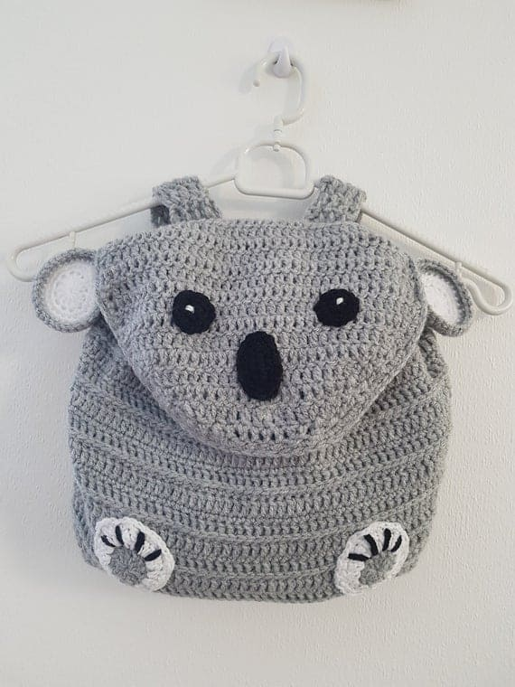 Handmade Crochet Koala Backpack