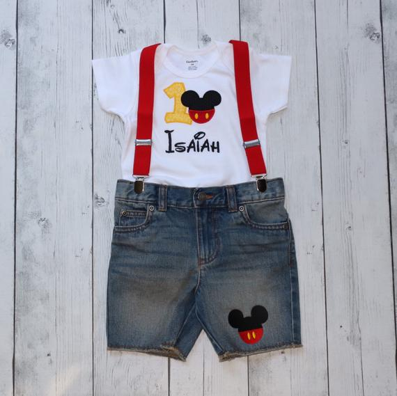 Mickey Mouse Denim Short Set