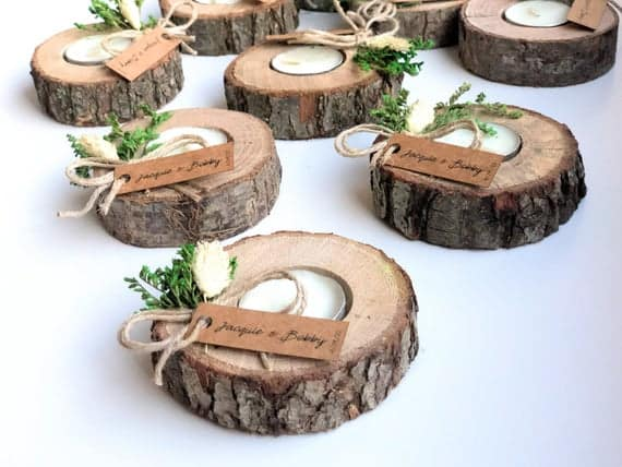 Wooden Tealight Holders