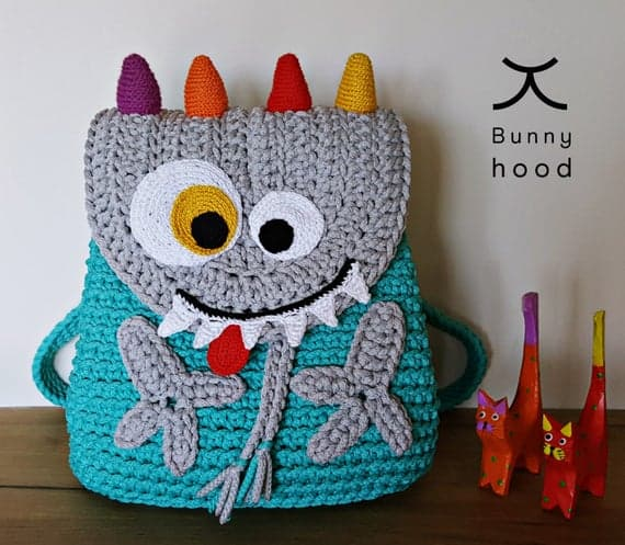 "Crochet backpack for Kids ""Funny Monster"""