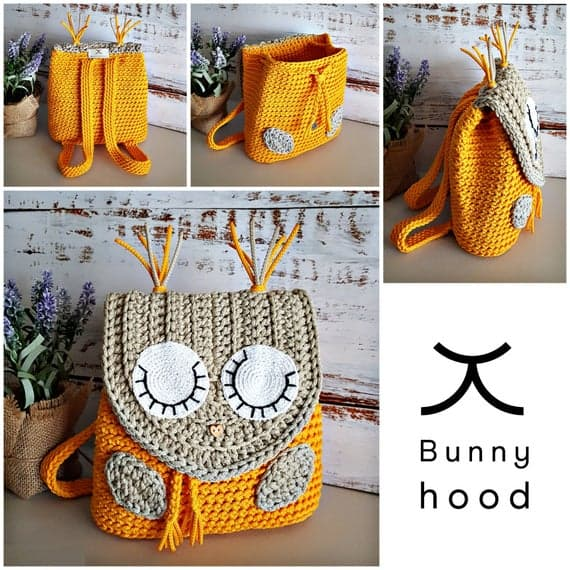 "Crochet backpack for kids ""Sleepy Owl"""
