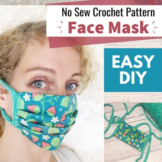 Fabric Crochet Face Mask Pattern