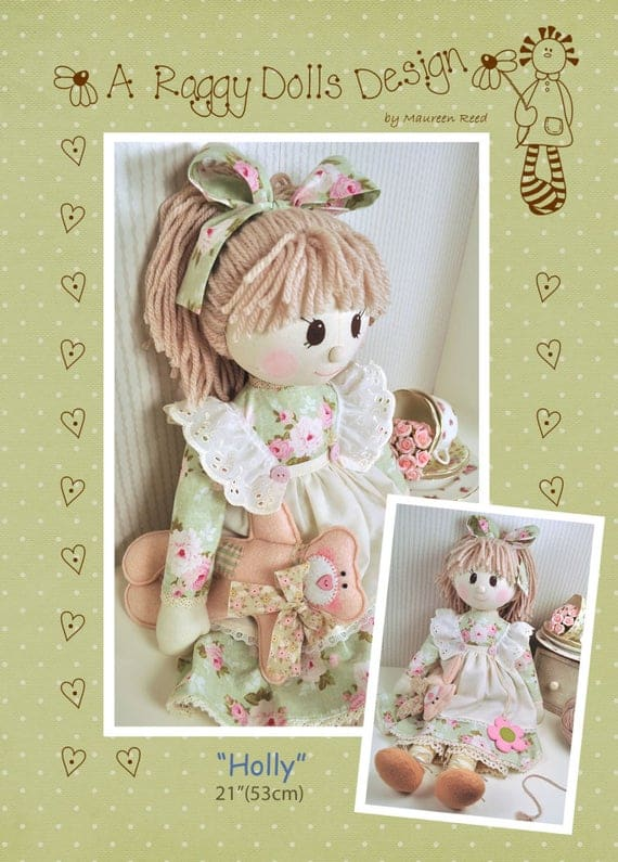 Holly Vintage Rag Doll Pattern