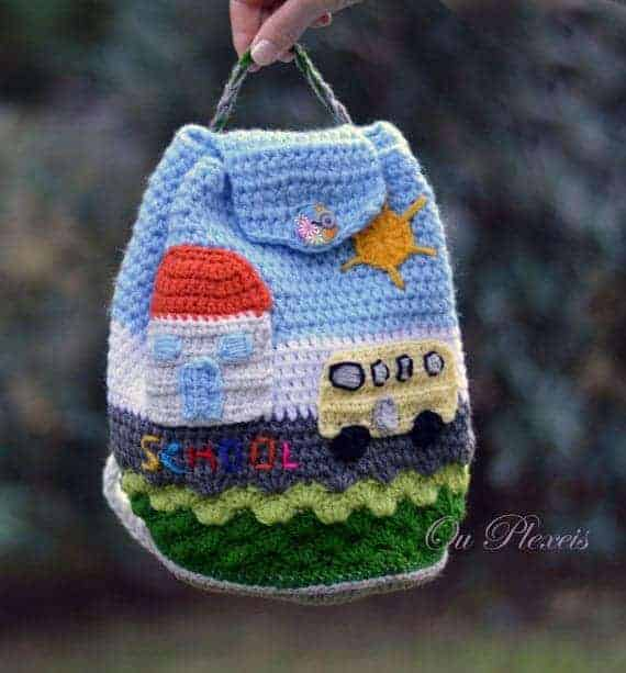 School Crochet Backpack