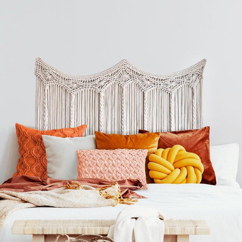Macrame a boho headboard for your bed
