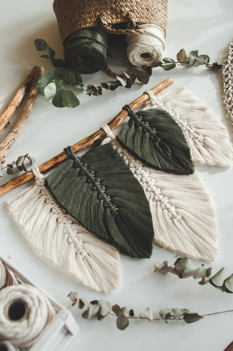 Layered Feather Macrame Wallhanging