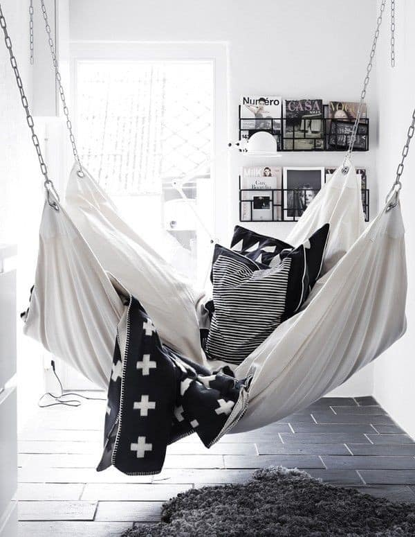 Love this indoor hammock!