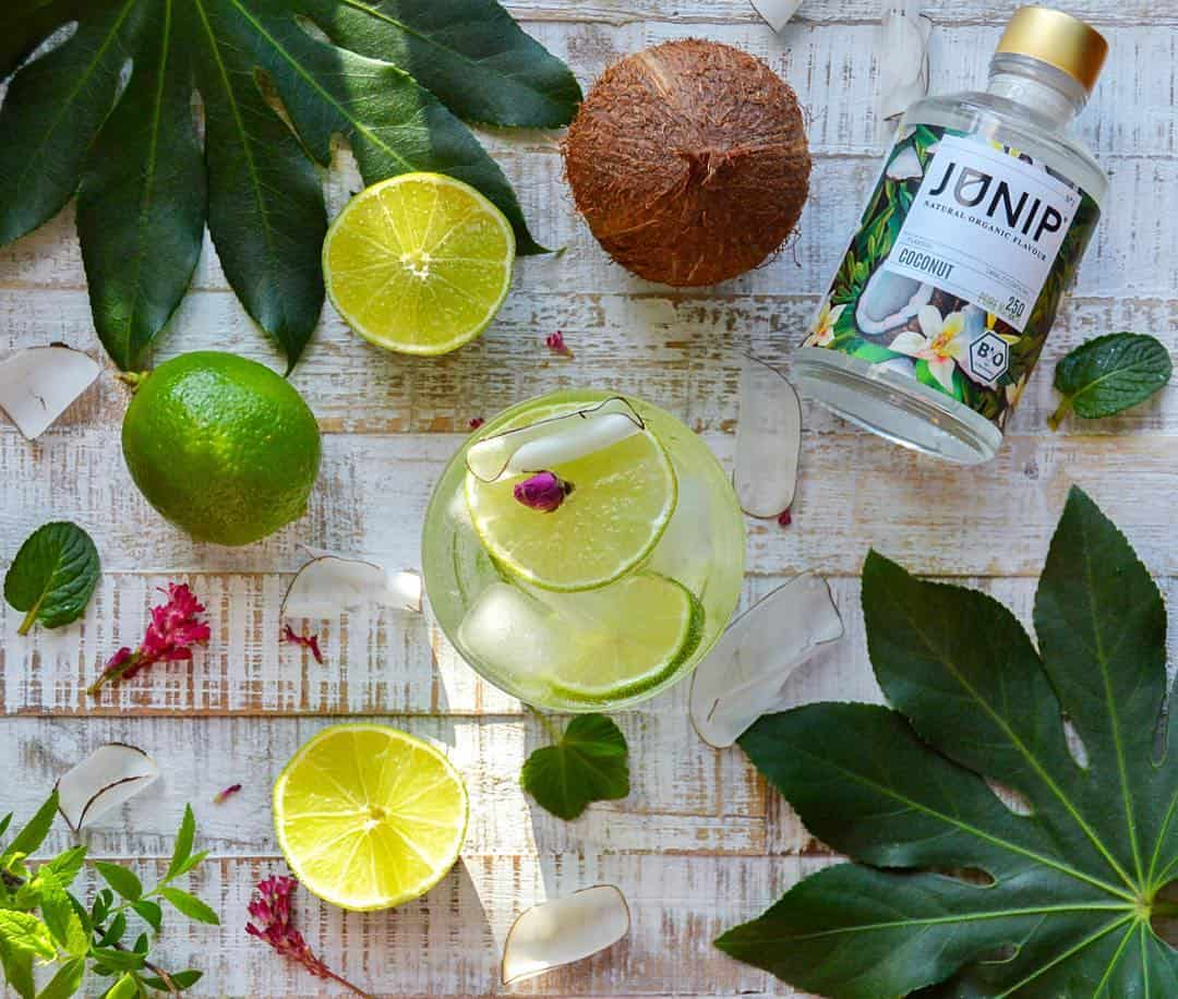 Coconut and Lime Infused Water