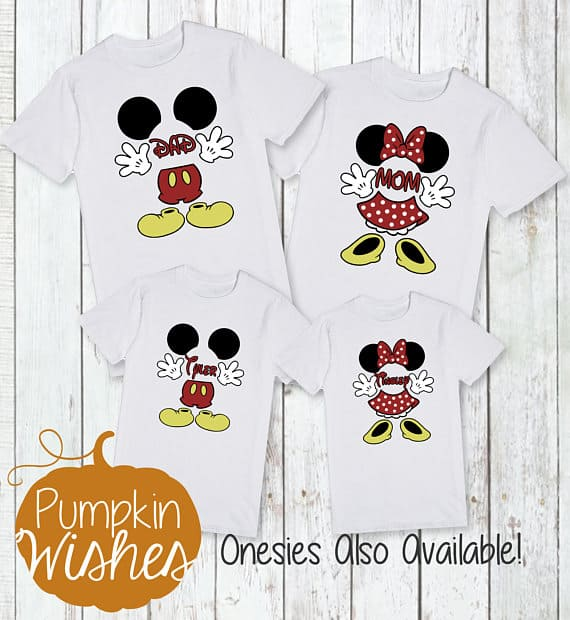 You can buy theFamily Disney Shirts and Onesies here