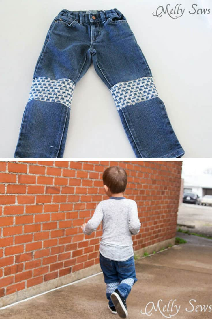 An Easier Way to Patch Jeans
