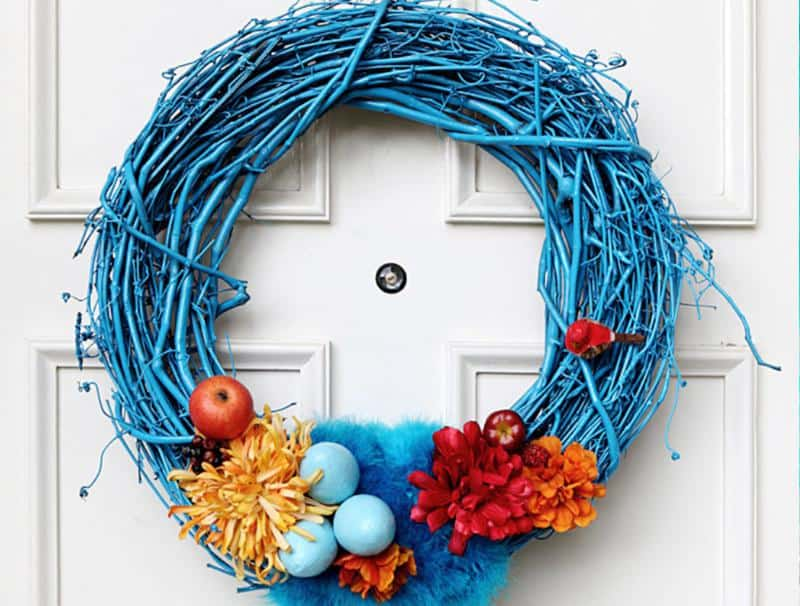 Jewel Toned Easter Door Wreath