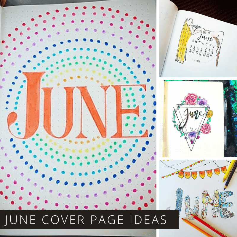 Need bullet journal cover page ideas for June? Check out these fun title pages and download your free printable cover page and quote.