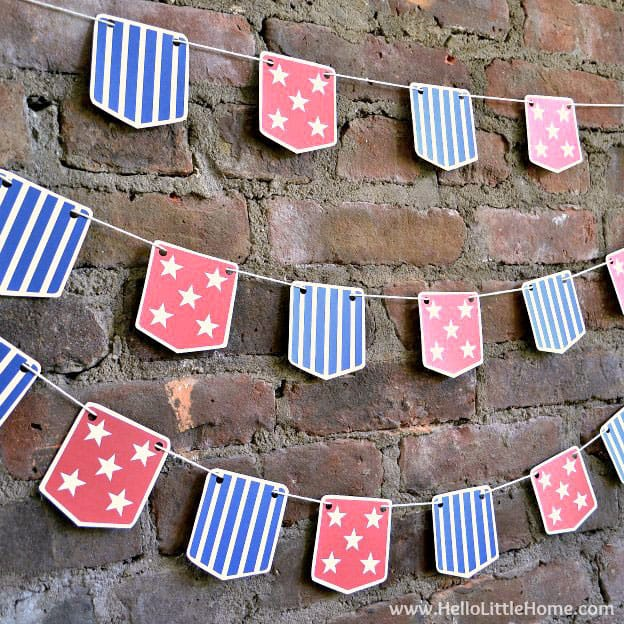 Diy stars and stripes bunting with free printable