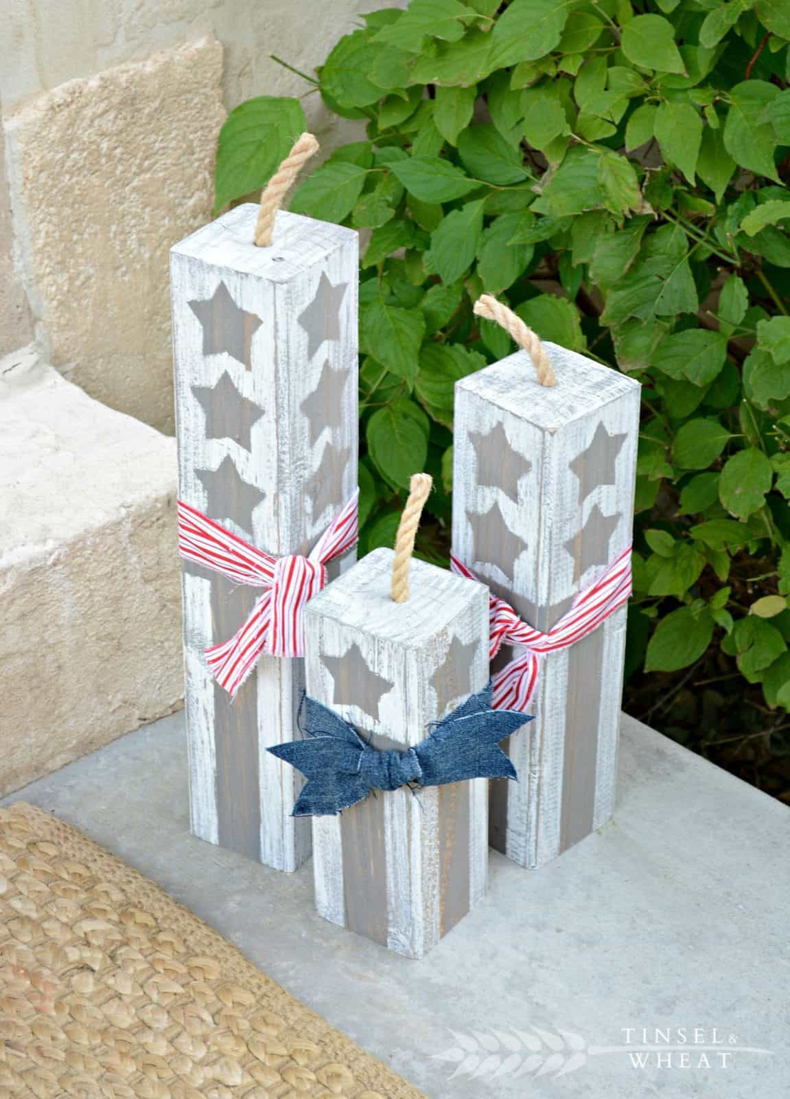 Darling neutral diy wood firecrackers