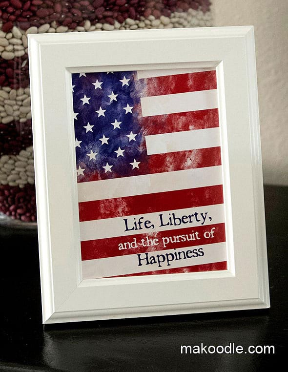 Life, liberty, and the pursuit of happiness printable
