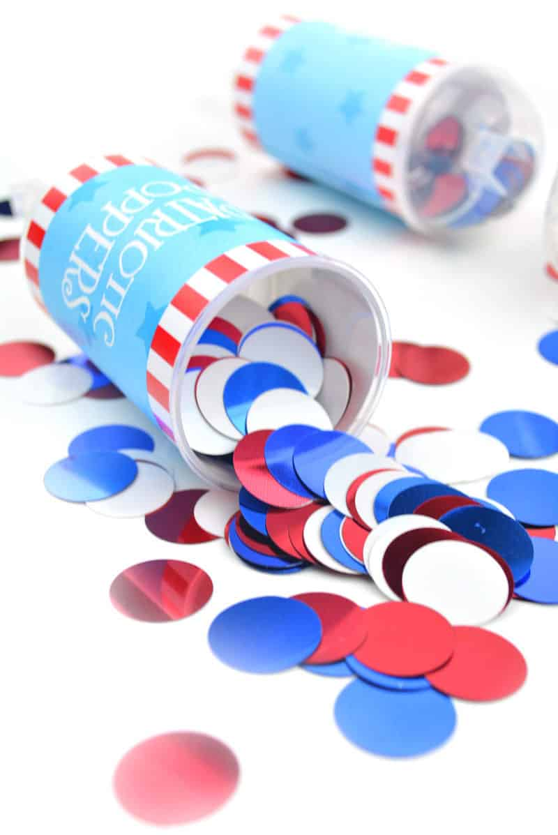 4th of july crafts: party poppers