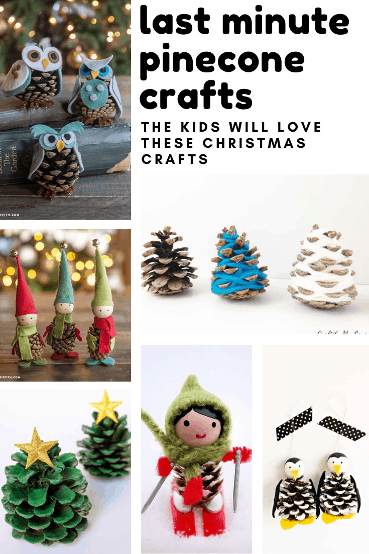Loving these pinecone crafts for kids to make - so fun and festive and the perfect last minute craft for Christmas!