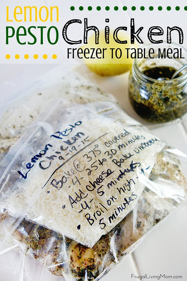 Lemon Pesto Chicken Freezer Meal Recipe