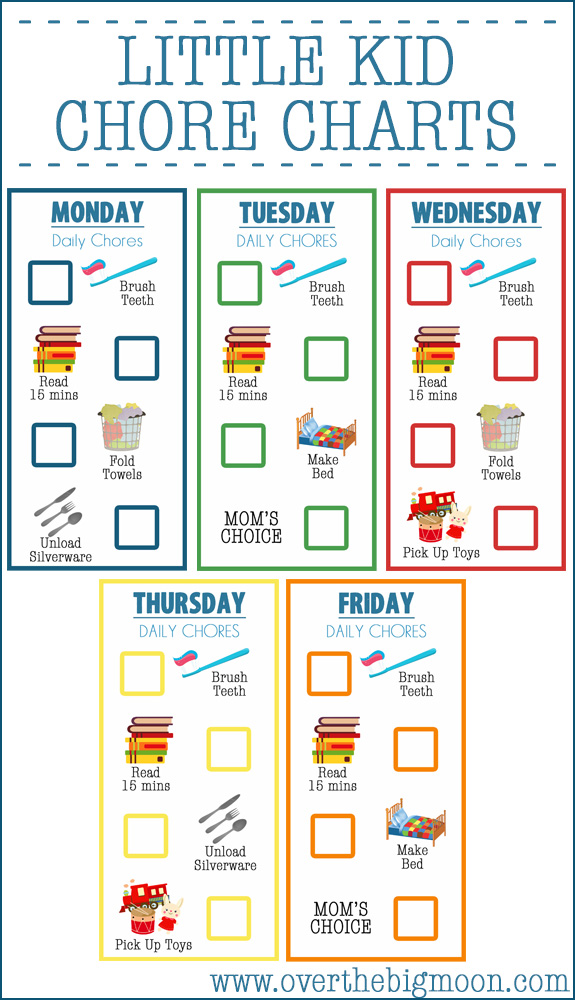 image regarding Chore Charts Free Printable referred to as Chore Charts for Young children they hard work including magic!