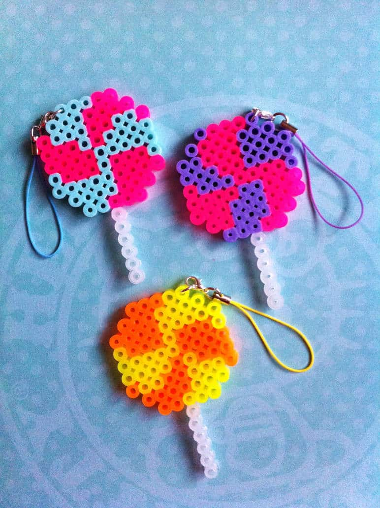These Perler Bead Keychains are the Perfect Back to School Craft