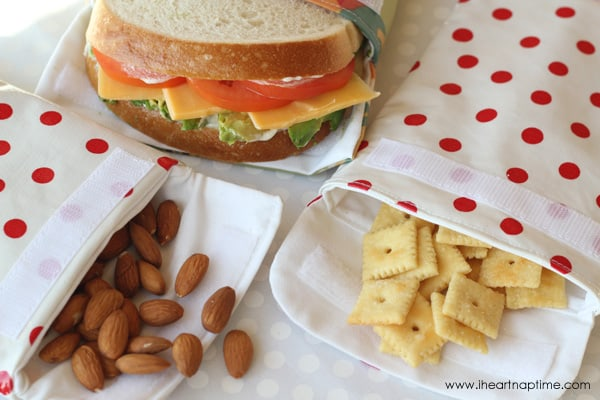Use oil cloth to make your own reusable sandwich bags