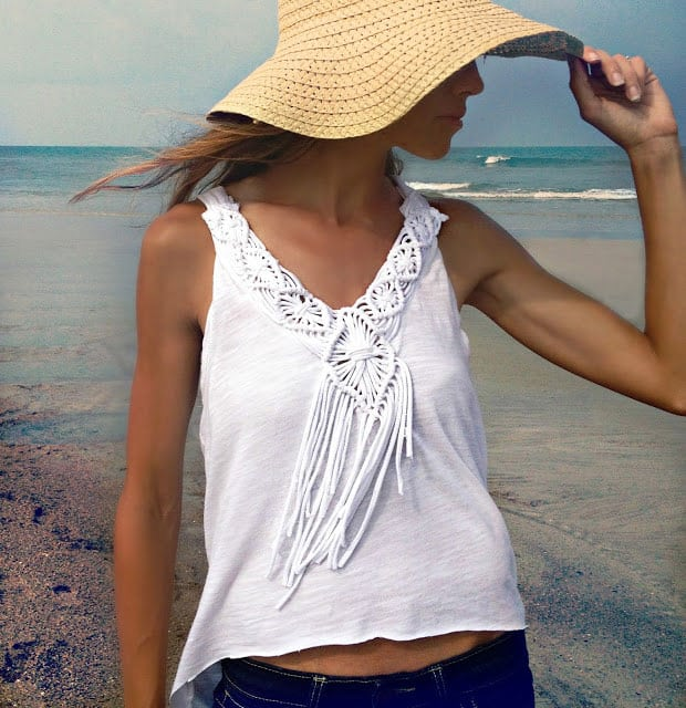 DIY Macramé Fringe Top