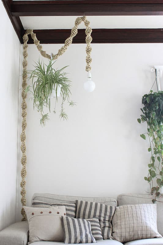 Make a Macrame Hanging Lamp