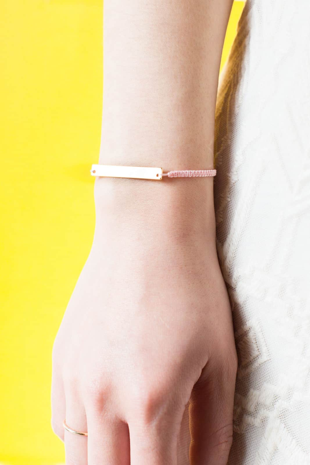 Make a simple but stunning bracelet.