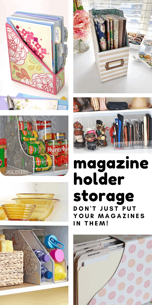Loving these magazine storage holder ideas - you can use them for so much more than just magazines!
