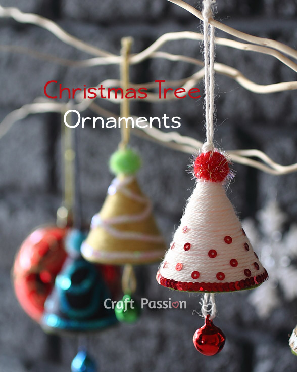 These Christmas Tree ornaments are the perfect project for crafting with a tween!