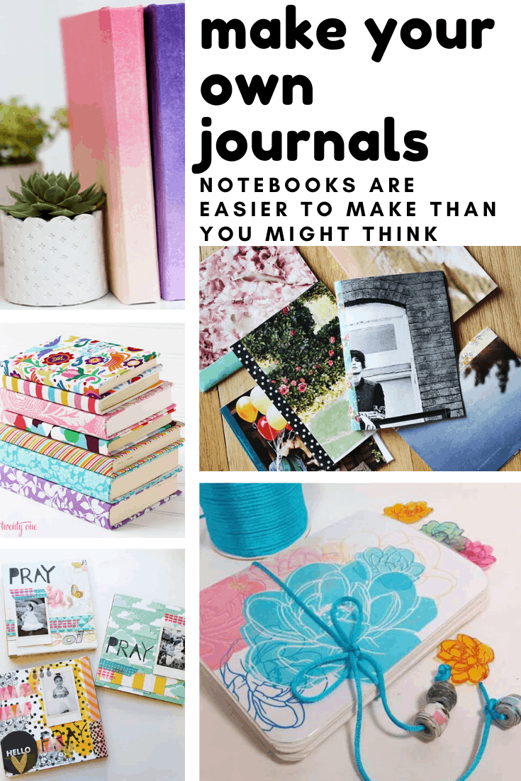 If you're a self confessed notebook collector you need to check out this collection of super fun make your own journal projects! It's as satisfying to make them as it is to journal in them!