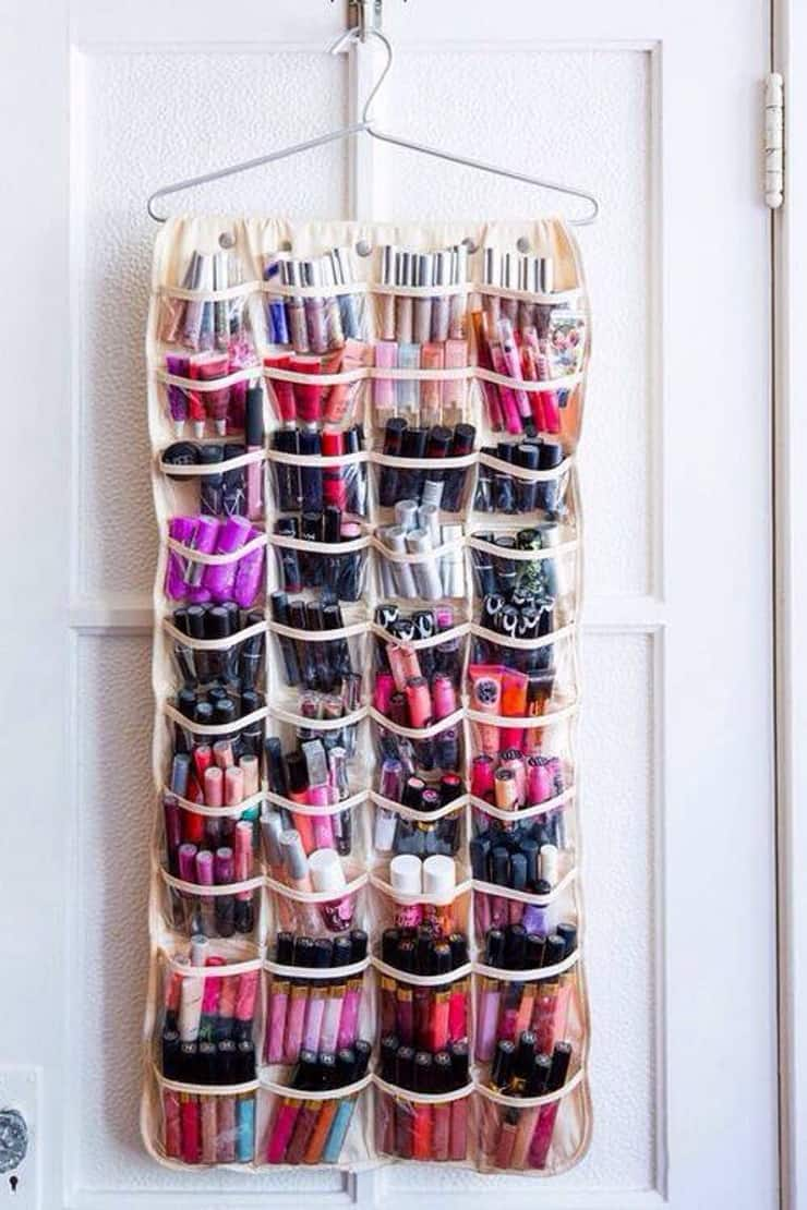 If you LOVE lip gloss you'll love this repurposed shoe organiser!