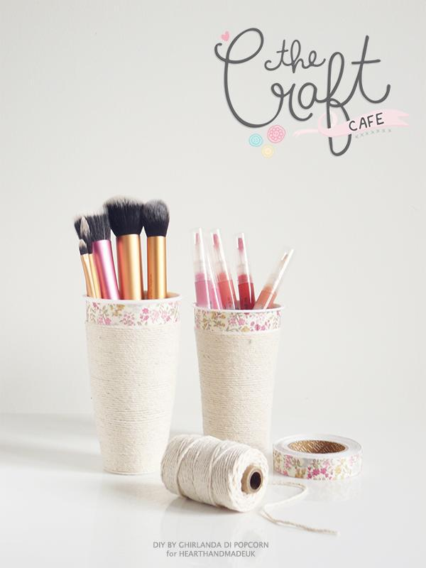 Raid the recycling to create these makeup holders